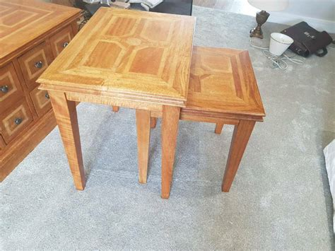 Acacia wood coffee table nirvana eastern imports. Beautiful solid mango wood nest of 2 tables   in Newton Aycliffe, County Durham   Gumtree