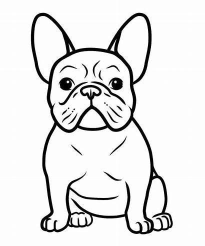 Coloring Bulldog Pages Dogs Puppy French Dog