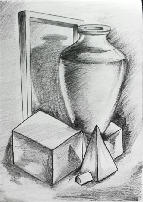 thanushkr object drawing  pencil shading