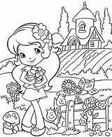 Strawberry Shortcake Coloring Blossom Orange Mitraland sketch template