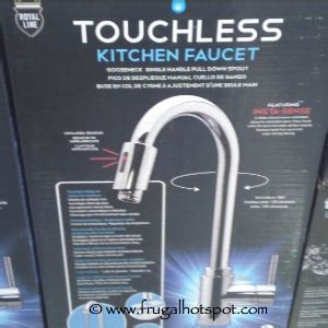 touchless kitchen faucet royal line costco deal royal line touchless kitchen faucet 149 99