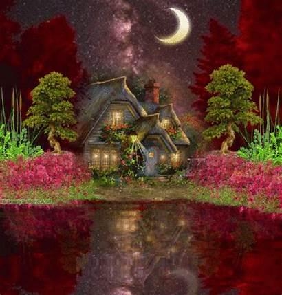 Night Scenery Picmix Fairy Wallpapers Drawing Loggardenia