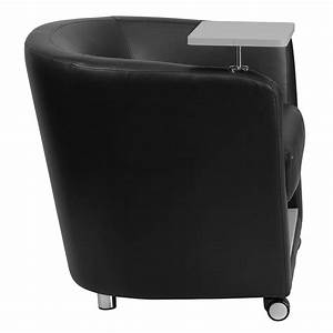 Seat Castres : ergonomic home black leather guest chair with tablet arm front wheel casters and under seat storage ~ Gottalentnigeria.com Avis de Voitures