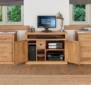 Mobel Solid Oak Hidden Home Office COR06A