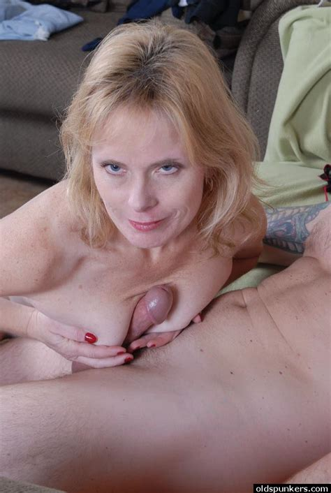 Mature Blonde Lady Pandora Eating Cum From Hand In