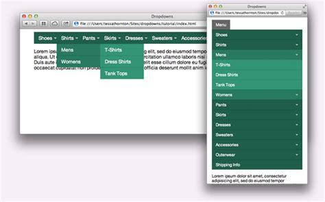 big menus small screens responsive multi level