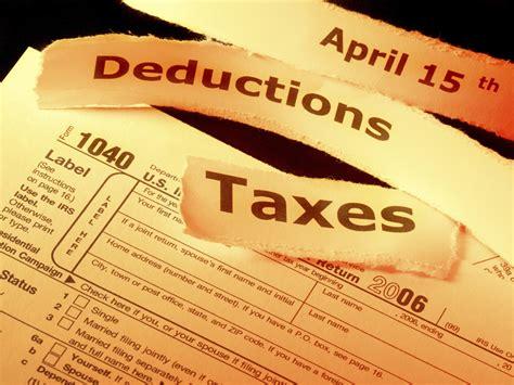types  tax deductions irscom