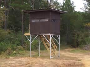 Enclosed Deer Stand Plans