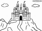 Castle Mountain Coloring Pages Castles Bouncy Drawing Easy Kidopo Printable Getdrawings Huge Knight Mountains English sketch template