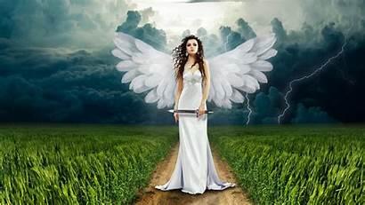Angel Desktop Backgrounds Heaven Wallpapers Female Computer