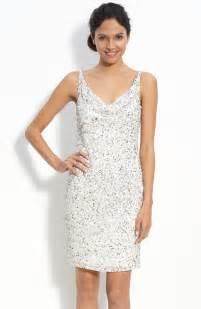 white dresses for wedding reception white dress for wedding reception beaded silver sheath onewed