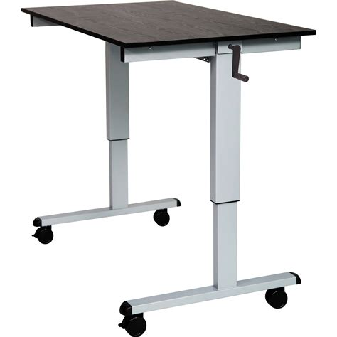 luxor 48 quot crank adjustable stand up desk standcf48 ag bo