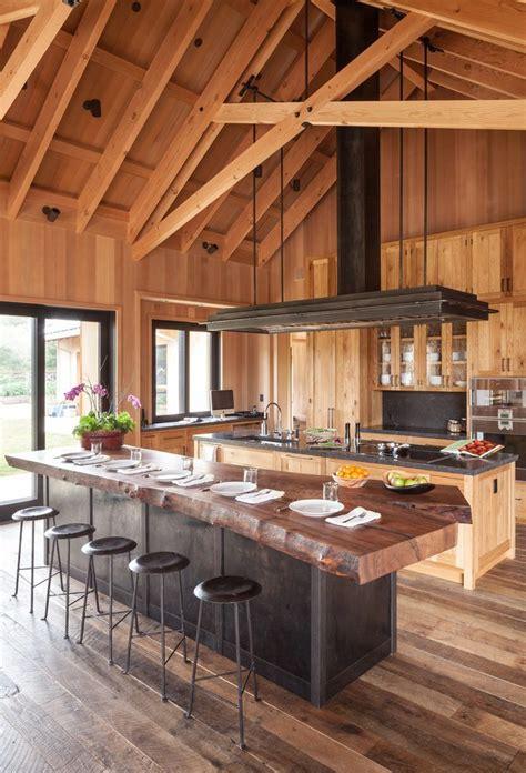 reclaimed wood kitchen farmhouse   edge countertop
