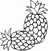 Pineapple Coloring Pages Clipart Fresh Sugarloaf Outline Colouring Printable Drawing Sheet Clipartmag Slice Tropical Colornimbus sketch template