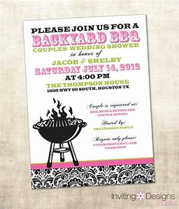bbq wedding shower invitation couples shower invitation With couples wedding showers