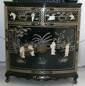 Meuble Chinois Occasion : meuble chinois laque noir d 39 occasion ~ Teatrodelosmanantiales.com Idées de Décoration