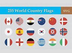 Colección de banderas de países en vector Illustrator