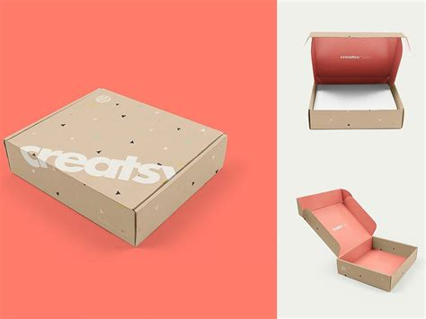 This is a triple pack pizza packaging box mockup with a brand name, portfolio and pizza free download. Mailing Box 3 Mockup Set by Mockup5 on Dribbble