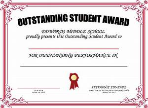 student award template cityesporaco With free award certificate templates for students