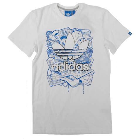 t shirt adidas adidas originals trefoil t shirt white mens t