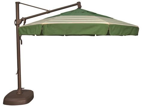 treasure garden cantilever aluminum 11 foot wide crank