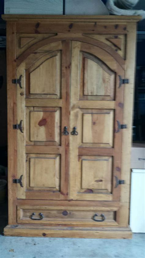 Knotty Pine Armoire Solid Knotty Pine Armoire Furniture In Edmonds Wa Offerup