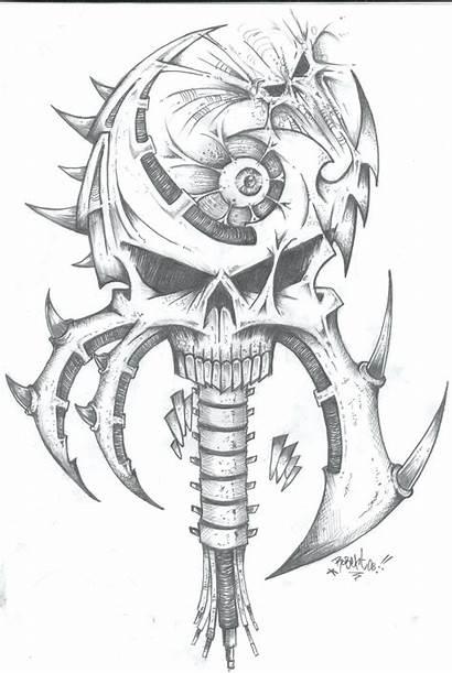 Skull Joker Scary Tattoo Clown Coloring Skulls
