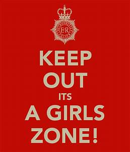 KEEP OUT ITS A GIRLS ZONE! Poster   talia   Keep Calm-o-Matic