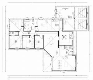 exceptionnel plan de maison plain pied 100m2 14 plan With plan maison 100m2 4 chambres