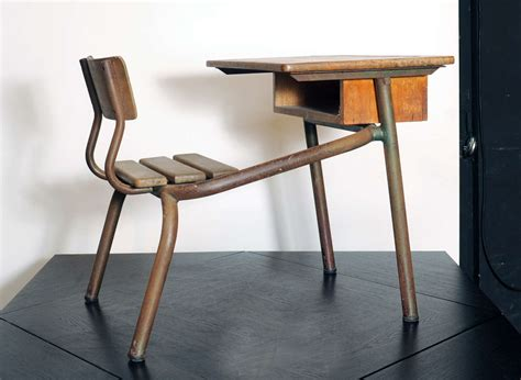 desk bureau d 39 école possibly jean prouvé for sale at 1stdibs