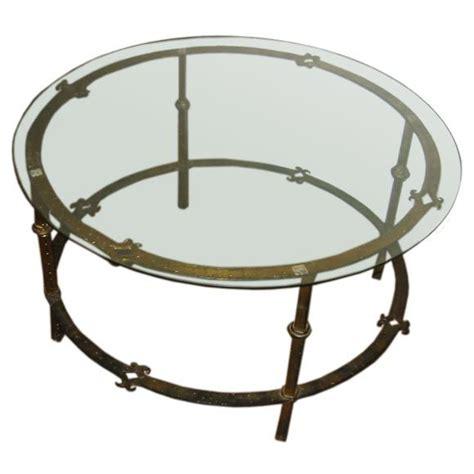 round wrought iron coffee table one round french hand forged gilded wrought iron coffee