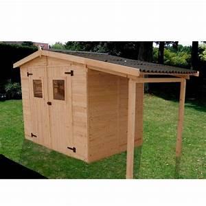 abri de jardin avec plancher et bucher 2 40x1 60m Achat