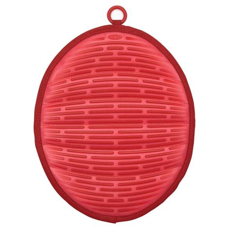 oxo good grips silicone pot holder  magnet red cutlery