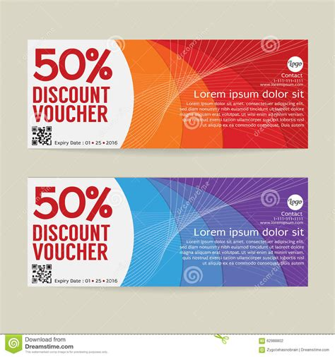 discount voucher modern template design stock vector