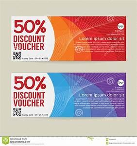 50% Discount Voucher Modern Template Design. Stock Vector ...