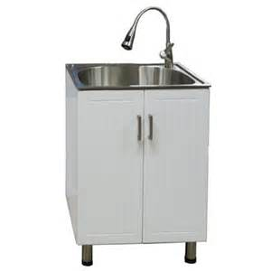 presenza utility cabinet with deep stainless steel sink