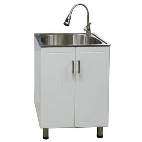 home depot laundry sink canada presenza utility cabinet with stainless steel sink