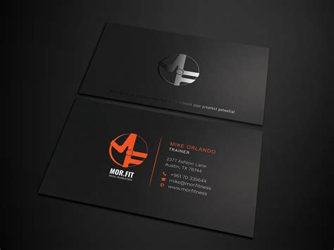 For the personal trainer business cards can be indispensable because it adds a personal touch. Professional, Modern, Personal Trainer Business Card ...