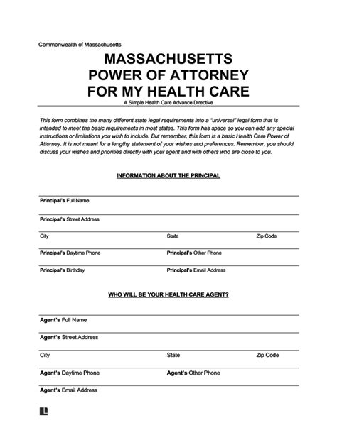 The insurance marketplace will give you more choices and make health plans affordable for all. Create a Massachusetts Health Care Proxy | Free PDF | Legal Templates