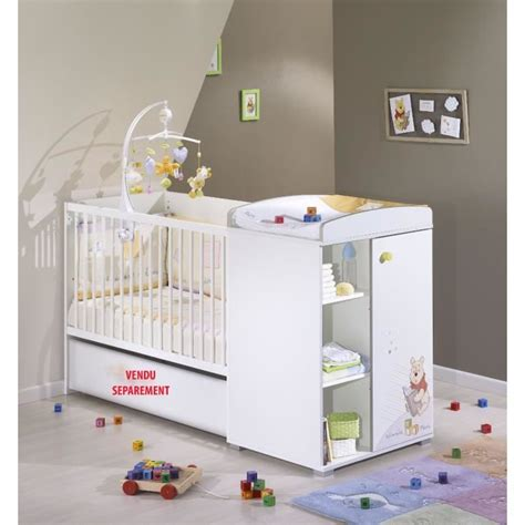 chambre evolutive pas cher winnie l 39 ourson lit bébé transformable 120 x 60 blanc
