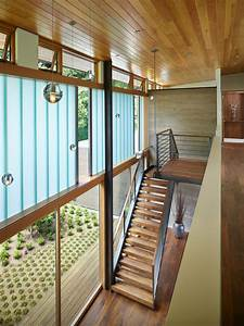 The, Courtyard, House, Is, A, Contemporary, Residence, In, Seattle