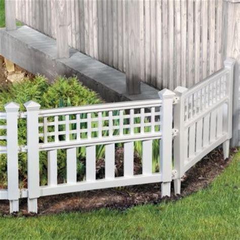 Dekoelemente Garten by 6 15 Quot Above Ground Decorative Garden Fencing 18 At