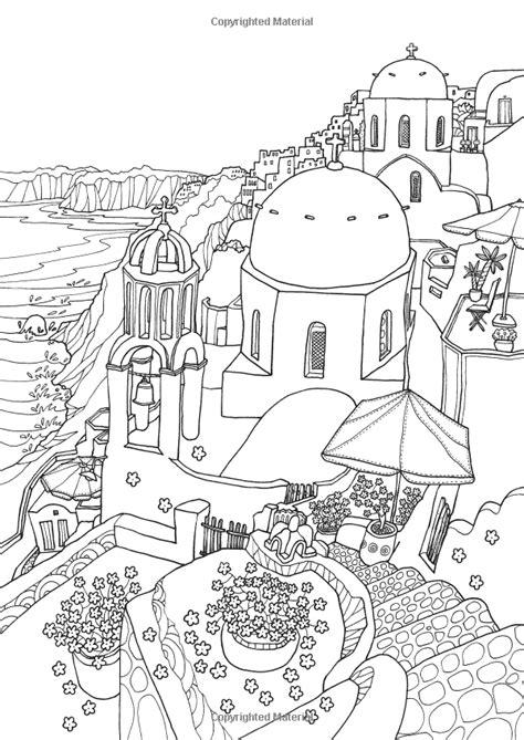 coloring europe magical greece  coloring book