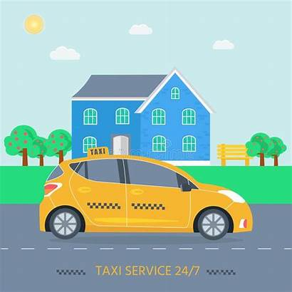 Machine Poster Cab Yellow Taxi Serv Banner