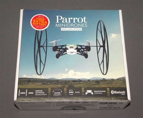 parrot minidrones rolling spider white drone rc vehicle  camera extra battery ebay