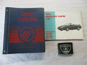 1991 Ford Mercury Capri Service Shop Repair Manual