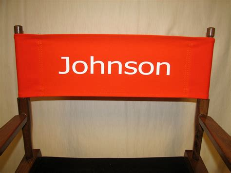 imprinted personalized replacement canvas for directors