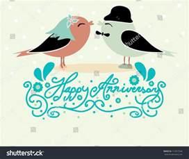 happy anniversary card design birds stock vector 113017546