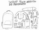 Coloring Pages Earthquake Preparedness Emergency Survival Kit Colouring Safety Sheets Teaching Tornado Winter Prepardness Activities Sketch Minecraft Need Comment Sketchite sketch template