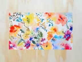 Watercolor Floral Area Rug 8X10